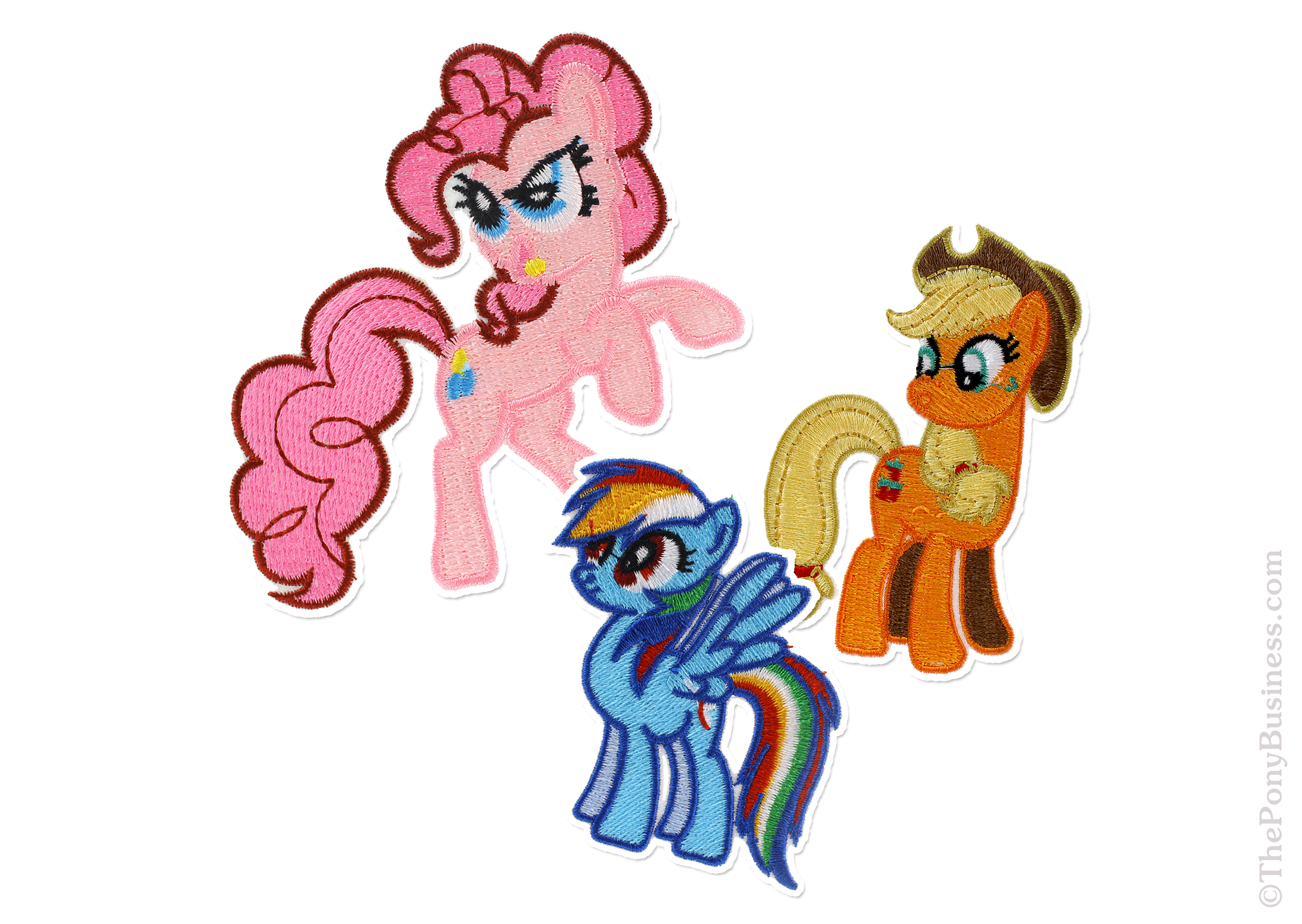 Mane 6 Embroidered Patches Theponybusiness Luggage Tag Pinkie Pie 168 Featuring Fluttershy